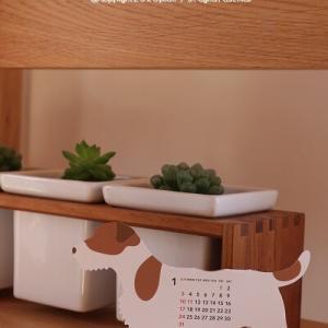 【カレンダー】インテリアになる飾る立体カレンダー♪