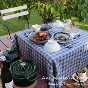 【おうちごはん】季節のものを頂く幸せ♪天気のいい日はお庭レストラン♪♪