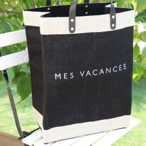 【MES VACANCES】自立するオシャレな自然素材のバッグ!大物もスッキリ収納できる大容量♪