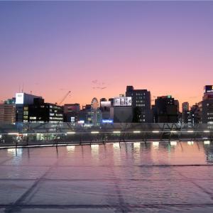 夕暮れどきの「オアシス21」(名古屋その6)