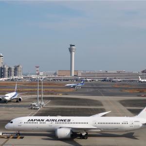 羽田空港に出かけました(マスク姿のガルーダ機)
