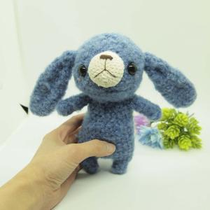 オーダー品 短足ウサギさん、青色