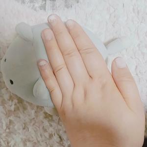 【今週のセルフネイル】ホワイト冬ネイル♪