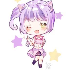 4℃、癒し記念/猫耳ミニキャラ少女(落書きw)
