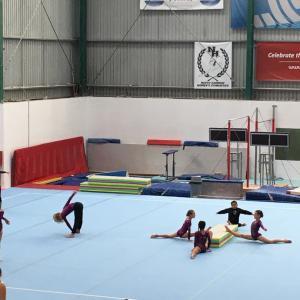 器械体操の大会 学校対抗戦