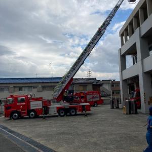 梯子車の訓練