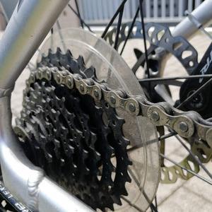 バイク(自転車)のチェーンメンテナンスΣ(-᷅_-᷄๑)