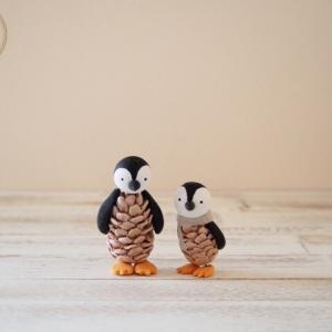 生徒様作品♪松かさペンギン&女の子♪お供え花♪ウェルカムプレート♪