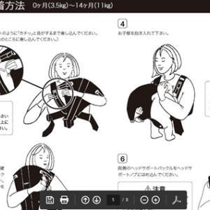 ベビービョルンの新生児用抱っこひも。使用期間は短いけど、買ってよかった。