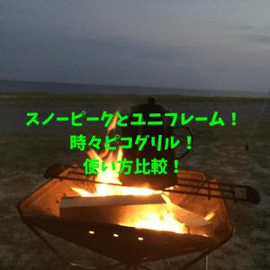 スノピとユニと時々ピコさん!!三種の焚火台レポート!