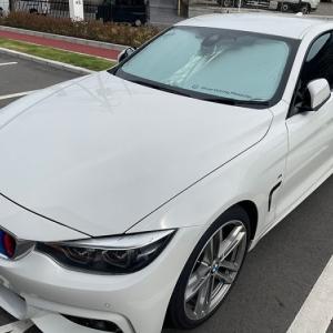 貴方はどっち派? Sheer Driving Pleasure と Freude am Fahren どちらも「駆け抜ける喜び」BMW純正サンシェードを再購入! BMW F36 420i