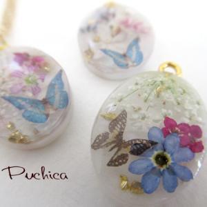 お花を贅沢に使ったネックレス*