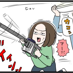 虫と格闘する母が○○に似てる