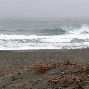 早朝から外気10度 サイズアップ早朝サーフィン