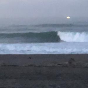 最高の波 土曜日早朝サーフィン