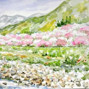 花桃の咲く園原