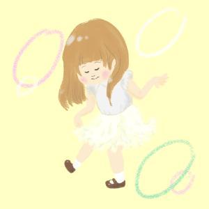 白キクラゲのスカート(イラスト)