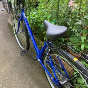 父が自転車を買いました