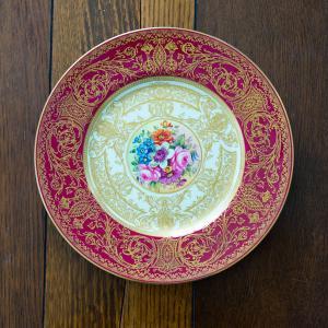 ロイヤルウースター 花図ディナープレート(飾り皿)(ペインター プリーマン)