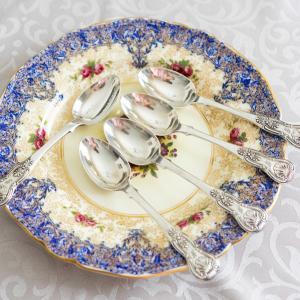 ヴィクトリア時代・純銀製ティースプーン