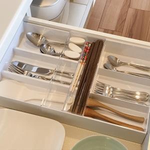 【キッチン収納】「細かく分ける」が好きな家族に大好評だったカトラリーケース。