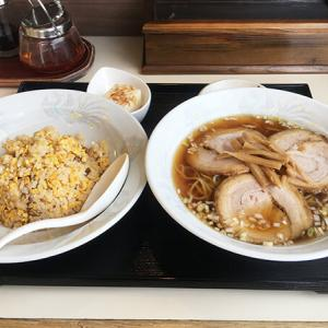 高岡市【珍竹林】街の中華料理店探索。3枚ちゃーしゅーめん+焼飯を食す。