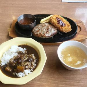【ビッグボーイ】580円ランチ!手ごねハンバーグ&牛肉コロッケランチセットを食す。