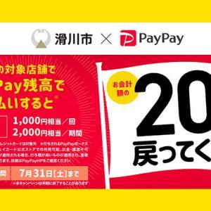 【滑川市×PayPay】最大20%還元!開催は2021年7月です!