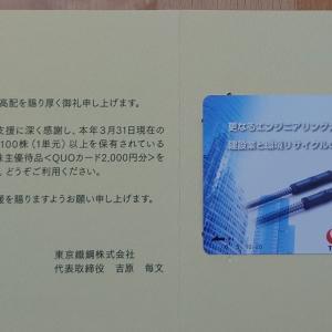 東京鐵鋼、東京特殊電線から届いた優待♪