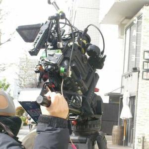 取材中のカメラマン?
