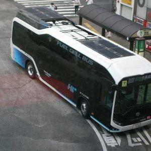 水素を燃料として走るバス(東京都営)