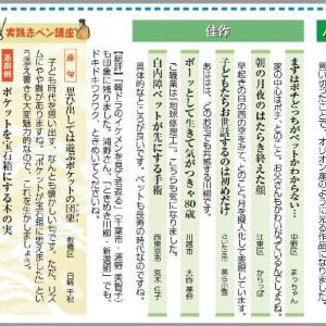 東京新聞「暮らすめいと」の「ときめき川柳・新鮮組」、12月入選作発表!!