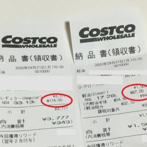 コストコのガソリンが、安くなりました。