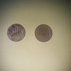 錆びた100円玉