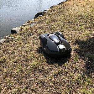 ロボット芝刈機(オートモア)の設置~工場緑地編