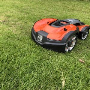 ロボット芝刈機(オートモア435X AWD)の設置~工場緑地編その2
