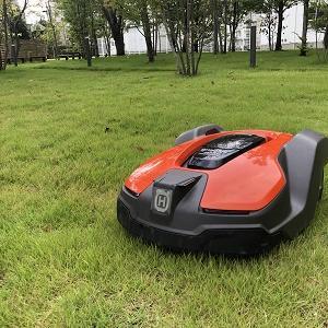 ロボット芝刈機(オートモア430X)の設置~工場緑地編その1