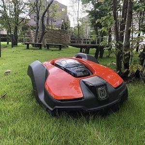 ロボット芝刈機(オートモア430X)の設置~工場緑地編その3