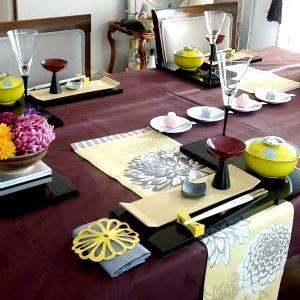 重陽の節句のテーブルコーディネート