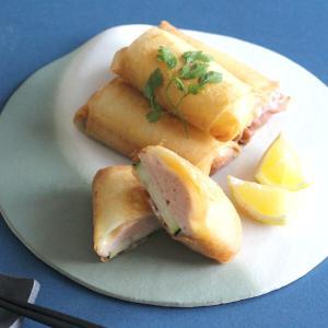 【レシピ掲載】サーモンムースとズッキーニのごちそう春巻き