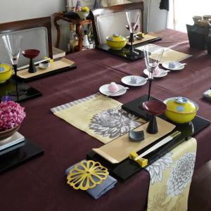 重陽の節句のテーブルコーディネート 3