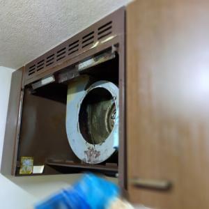 ※閲覧注意 汚部屋掃除中 換気扇が凄かった…。