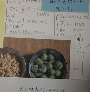 渡辺有子「日々の食材ノート」毎日のレシピを一年間書きためたノート