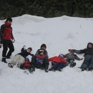 孫たちと雪遊びしてきました