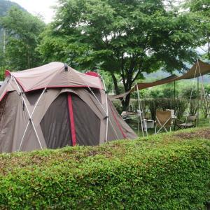 梅雨時のキャンプ
