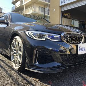 BMW新型3シリーズセダン(G20)直6M340i xDriveのMパフォーマンスエアロの極上の中古車が出てますね^^気になる価格は?