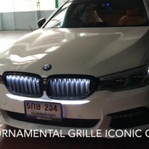 BMW5シリーズG30,G31向け純正オプション光るキドニーグリル「BMW Iconic Glow Kidney Grilles 」の取り付けを断念しました><
