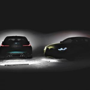 BMW新型M3セダン(G80)M4クーペ(G82)巨大キドニーグリルチラ見せのティーザー写真を公開!M3は通常グリルの可能性も!?