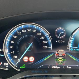 BMW G31にスピードリミットインフォ(SLI)+制限速度アシスト(SLA)+追い越し禁止表示(NPI)をコーディングで有効してもらいました^^【前編】