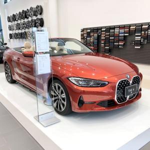 BMWディーラーで新型4シリーズカブリオレ(G23)の展示や試乗が始まった模様(^^)各ディーラーの展示車を紹介♪Mスポ420iカブが気になります\(^o^)/